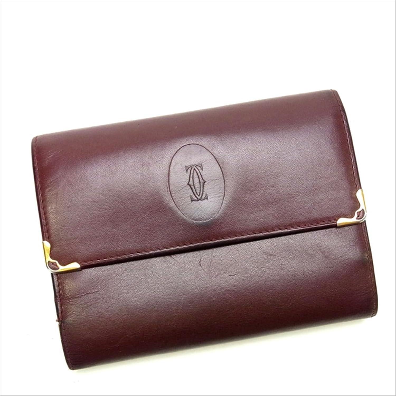 [カルティエ] Cartier がま口財布 三つ折財布 マストライン 中古 I065 B0183HL2CG