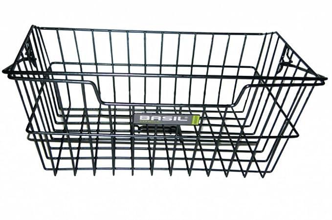 11011 Basil Hinterrad Fahrrad Korb Cairo schwarz Stahl Federklappe Gep/äcktr/äger