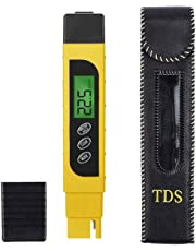 TDS Meter,ProPOW Water Quality Tester 3-in-1 TDS/EC/Temperature Meter,Water Testing Kits for Drinking Water,Swimming Pools,Aquariums,Hydroponics, Measure 0-9999 ppm (Yellow)