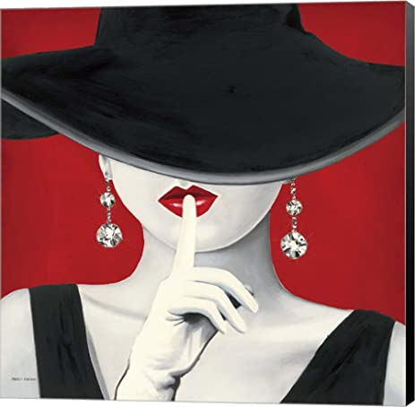Amazon.com: Haute Chapeau Rouge I by Marco Fabiano Canvas Art Wall ...