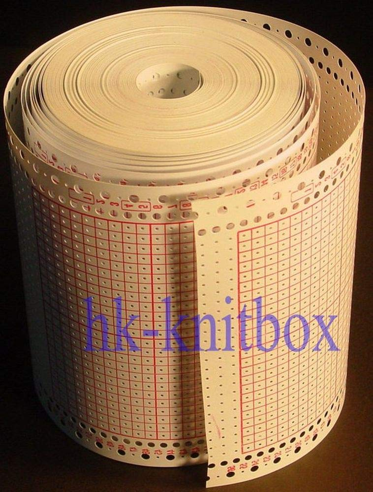 24 Stitches Blank Punch Card Roll for Brother Singer Knitting Machine Punchcard KH868 SK280