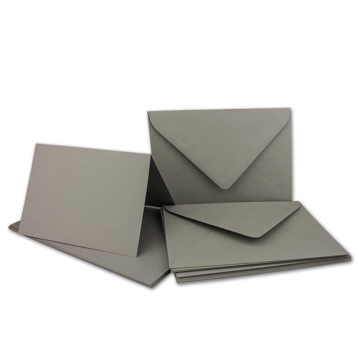 Faltkarten Set mit Brief-Umschlägen DIN A6   C6 in Rosanrot   100 Sets   14,8 x 10,5 cm   Premium Qualität   Serie FarbenFroh® B079ZV9DCL | Ausgezeichnete Qualität