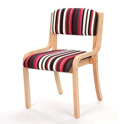 Stupendous Amazon Com Dining Chair Zjm Stripe Solid Beech Lounge Theyellowbook Wood Chair Design Ideas Theyellowbookinfo