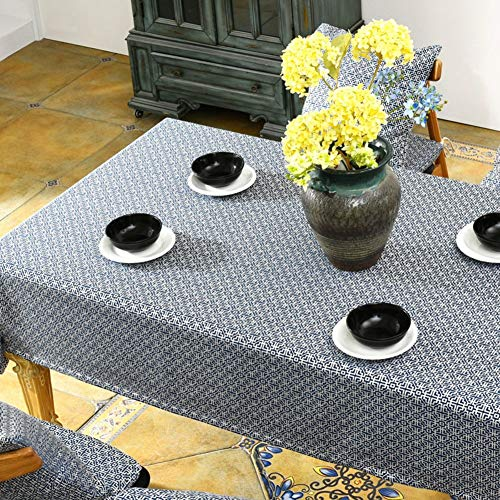 - LUHEN Fret Cloth Fabric TableclothCoffee Table Round Table (Color : D, Size : 135x200cm(53x79inch))