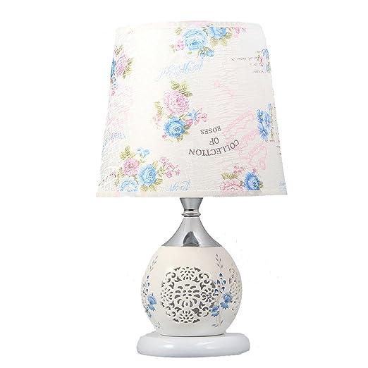 SMILR Lámpara de Mesa de cerámica vacía Creativa, lámpara de la ...