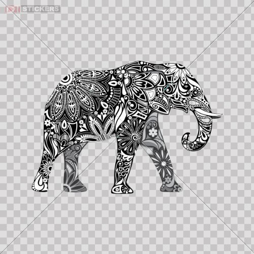 Decals Sticker Elephant Window Motorcycle product image