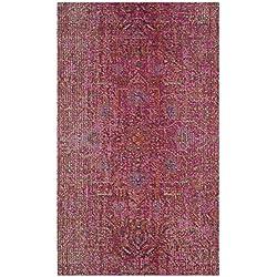Safavieh Artisan Collection ATN339S Vintage Bohemian Fuchsia Distressed Area Rug (4' x 6')