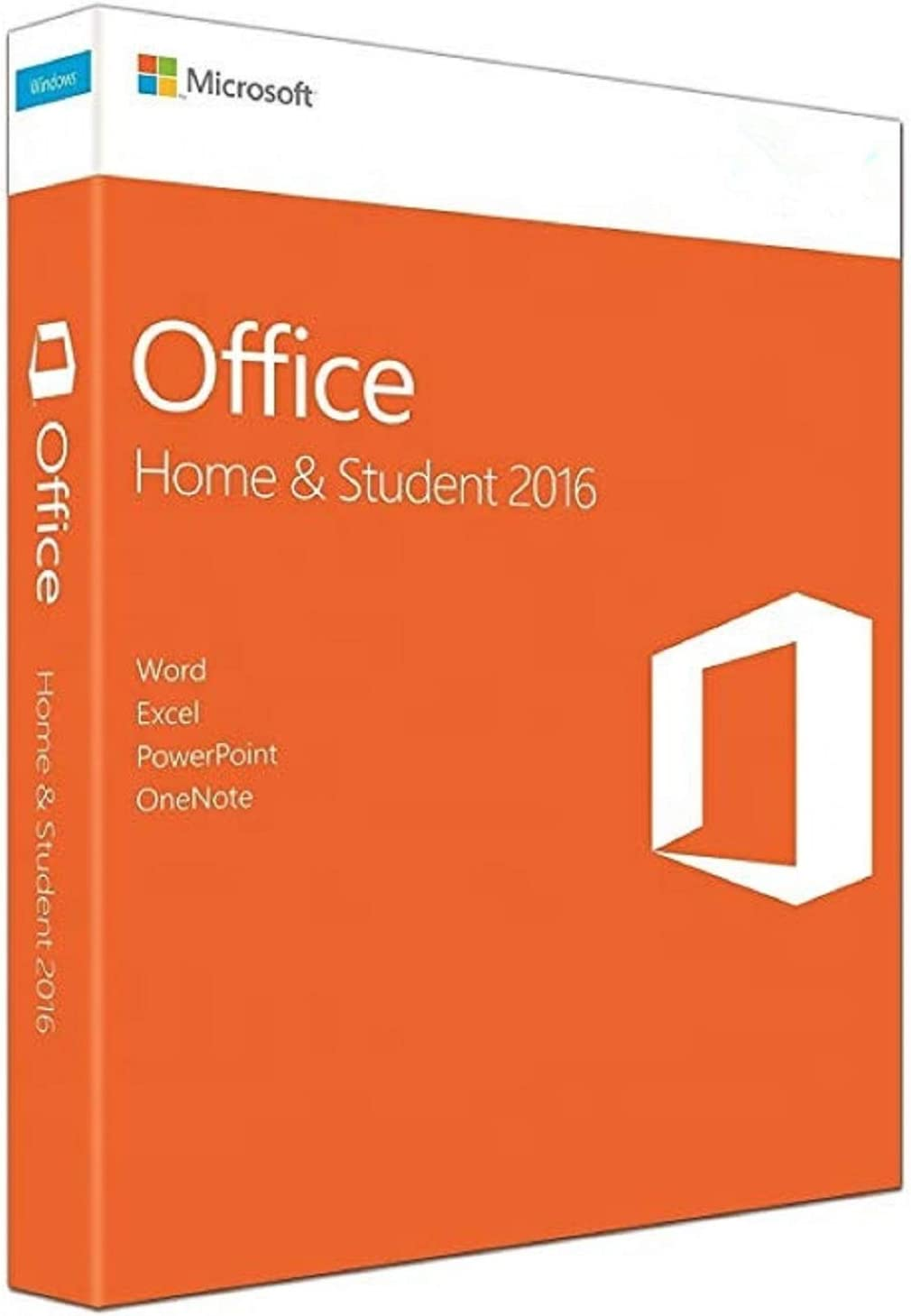 Office 2016 Home and Student - English - New - 1 PC - Box - KeyCard - Word Excel PowerPoint OneNote - 2016 for Win