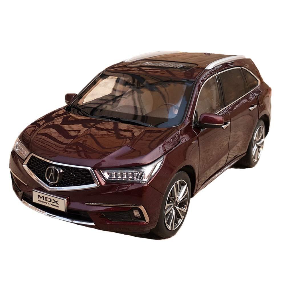 GAOQUN-TOY 1 18 GUAngqi Honda Acura CDX 2018 SUV Modello di Auto in Lega (colore   Maroon, Dimensioni   26cm11cm10cm)