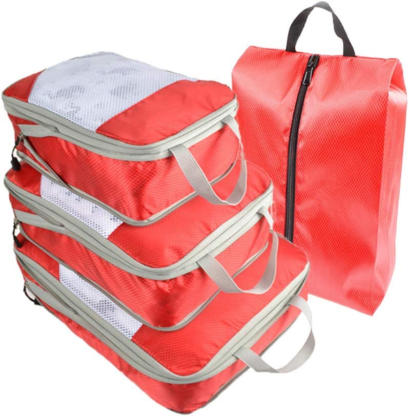 CLEAVE WAVES 7 S/ätze Packw/ürfel Reisegep/äck Organizer Koffer Taschen zum Befestigen von Kleidung,A