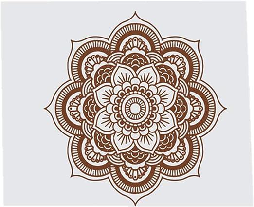YWLINK Hermosa Mandala Flor Dormitorio Indio Arte De La Pared CalcomaníAs Arte Mural Vinilo para El Hogar No TóXico ProteccióN del Medio Ambiente A Prueba De Agua DecoracióN De La Familia: Amazon.es: