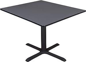 """Regency Cali Square Breakroom Table, 48"""", Slate"""