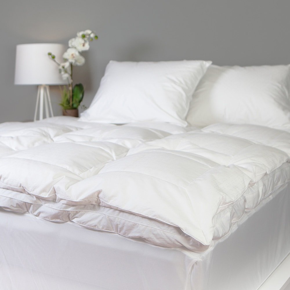 Grandeur Collection Overfilled 300 Thread Count Cotton Down and Goose Featherbed Full by Grandeur Collection