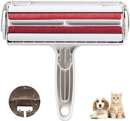 BTkviseQat - Rodillo quitapelusas para pelos de perros, gatos, pelos de animales, reutilizable para muebles, sofás, alfombras, ropa de cama y más: Amazon.es: Productos para mascotas