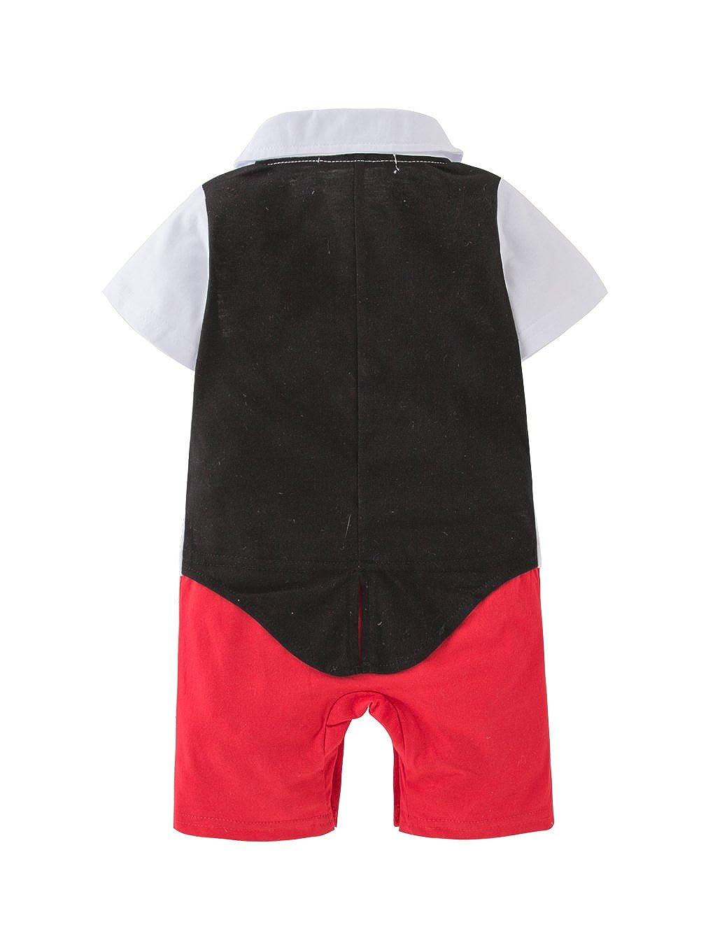 XM Nyan Mays Baby Toddler Boy Bow Tie Tuxedo Pants