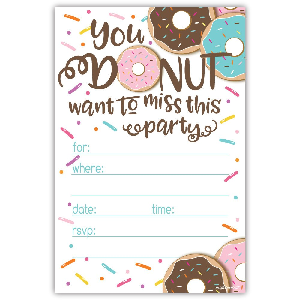 Donut Party Invitation Template Free 5