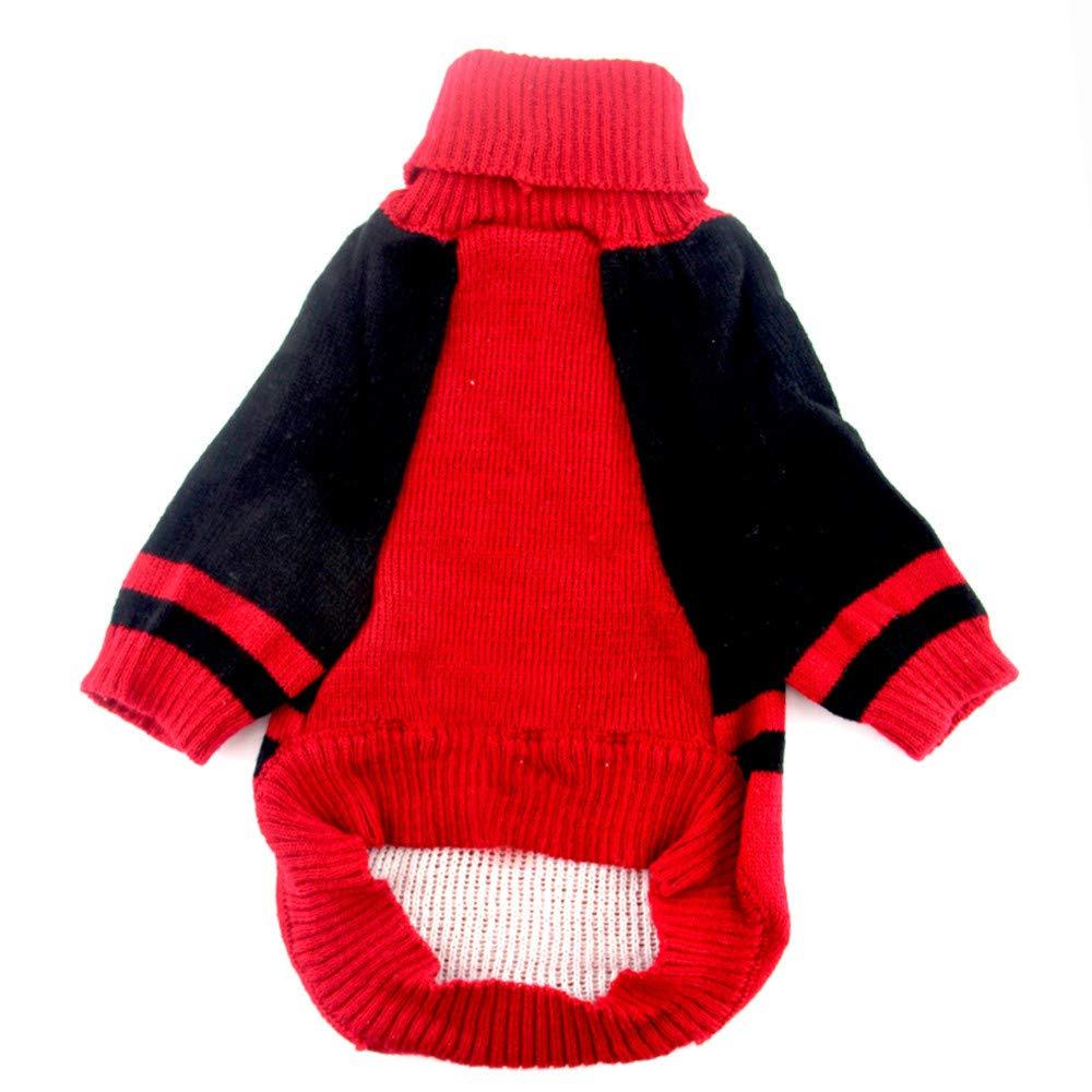 Ropa para Mascotas,Dragon868 Invierno Caliente Cool Negro y Rojo cráneo suéter Camisas Mascotas Perros Gato: Amazon.es: Ropa y accesorios