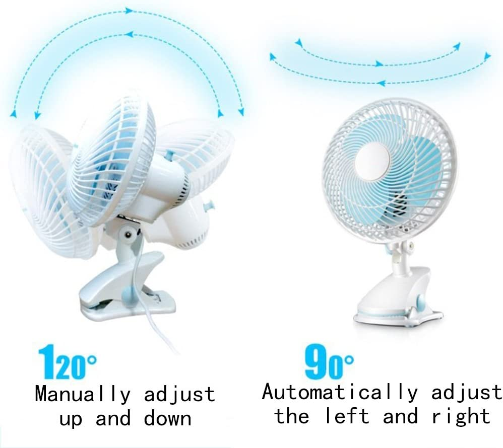 White DNXL Mini Fan Creative Silent Energy-Saving Portable Fan for Home//Student Dormitory//Office