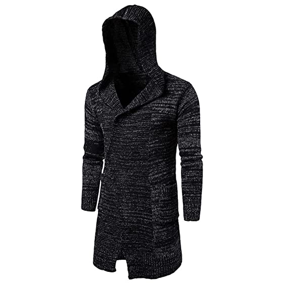 ManxiVoo Men's casual sweater, Men Autumn Winter Cardigan Sweater ...