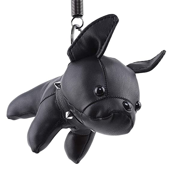 Amazon.com: GloryMM - Llavero de piel con diseño de bulldog ...