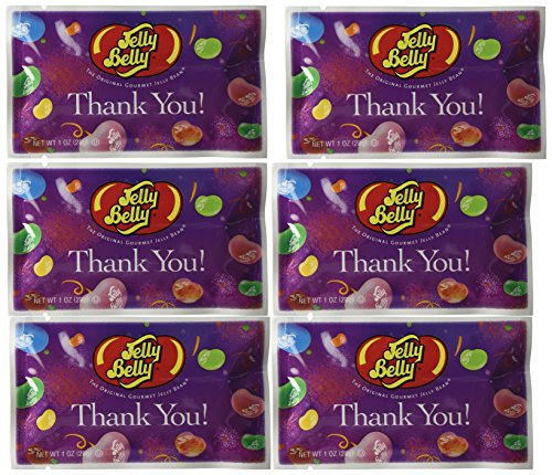 Jelly Belly Thank You Jelly Beans (30 Pack 1 Ounce Bags) Assorted Flavors – Great Party Favors – Kosher Certified & Gluten Free