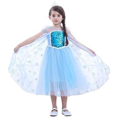 1a7067c36bf Le SSara Nouvel an Noël Cosplay Filles Neige Princesse Costumes Robe   Amazon.fr  Vêtements et accessoires