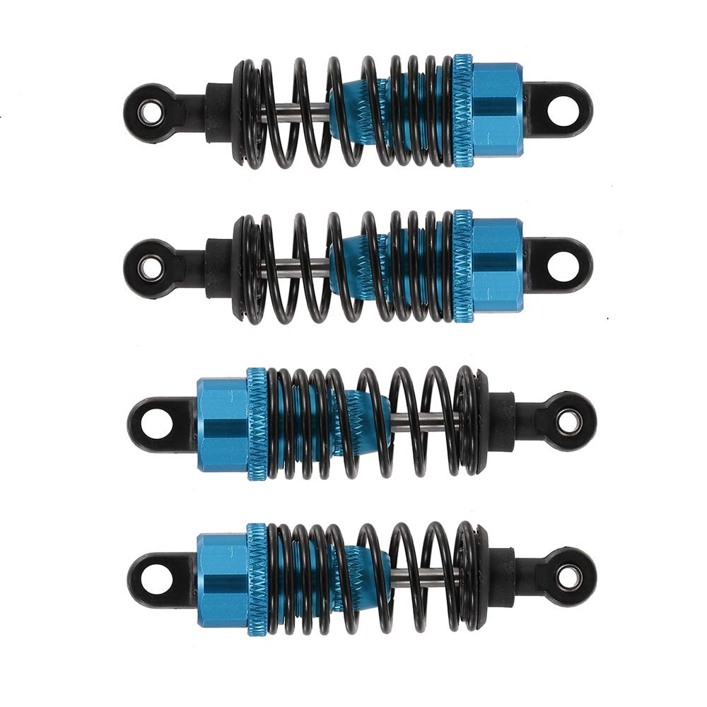 Black, 100mm Hensych 4 Pack Adjustable Oil 60mm 85mm 100mm Front and Rear Metal Shock Absorber Damper for 1//10 RC Car Truck Parts Crawler Type Axial SCX10 TRX4 D90
