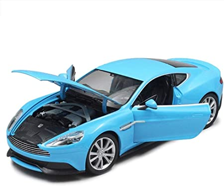 1 32 Scale Car Model Aston Martin Vanquish Simulation Highly Detail Alloy Die Cast Model Toy Kit Sports Car Collection Gift 18x8x4 5cm Blue Amazon Co Uk Kitchen Home