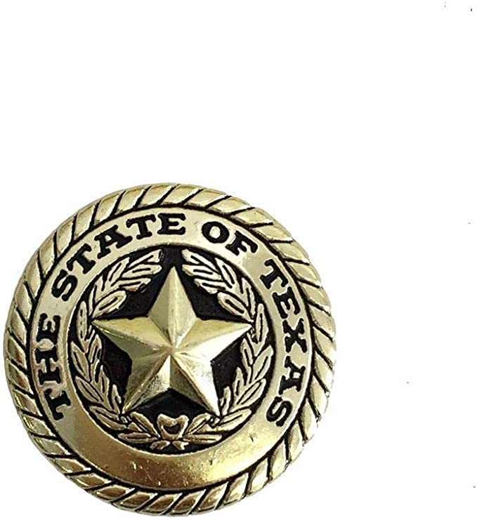 """TEXAS GOLD STAR STATE SEAL MEN/'S  LEATHER CONCHO BELT 1-1//4 /"""" WIDE 3 COLORS NEW"""