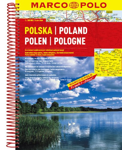 Poland Marco Polo Road Atlas: 1:300 000