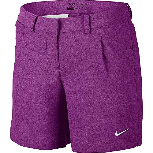 Nike Oxford Womens Golf Shorts, Cosmic Purple/White, Size 6