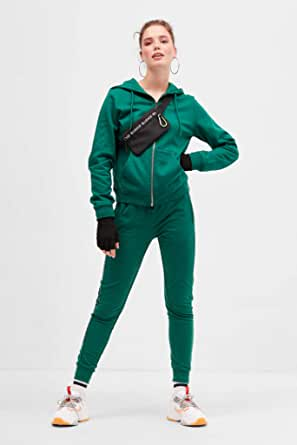 Blue age Slim Fit Trousers for Women- Grass