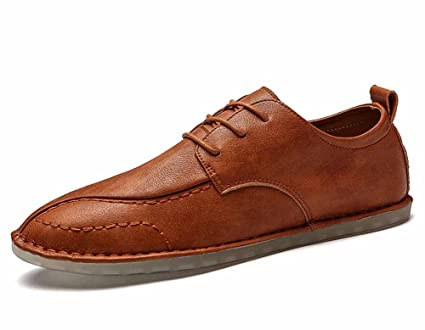 36095c4fb817c Amazon.com: GLSHI Men Casual Loafer Shoes Lightweight Leather ...
