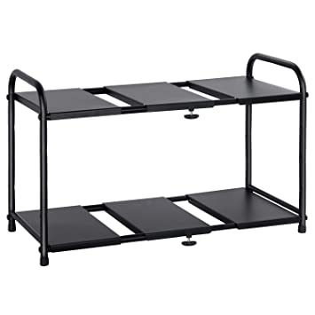 lifewit adjustable under sink organizer 2tier expandable rack for bathroom kitchen