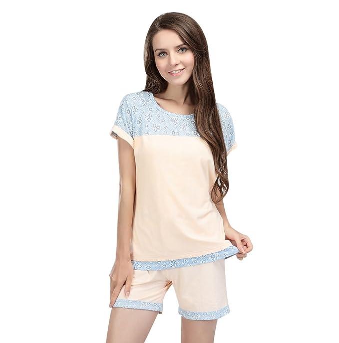 NiSeng Mujer Pijama Premamá Embarazo Lactancia Ropa De Enfermería De Maternidad Lactancia Pijamas Enteros(T