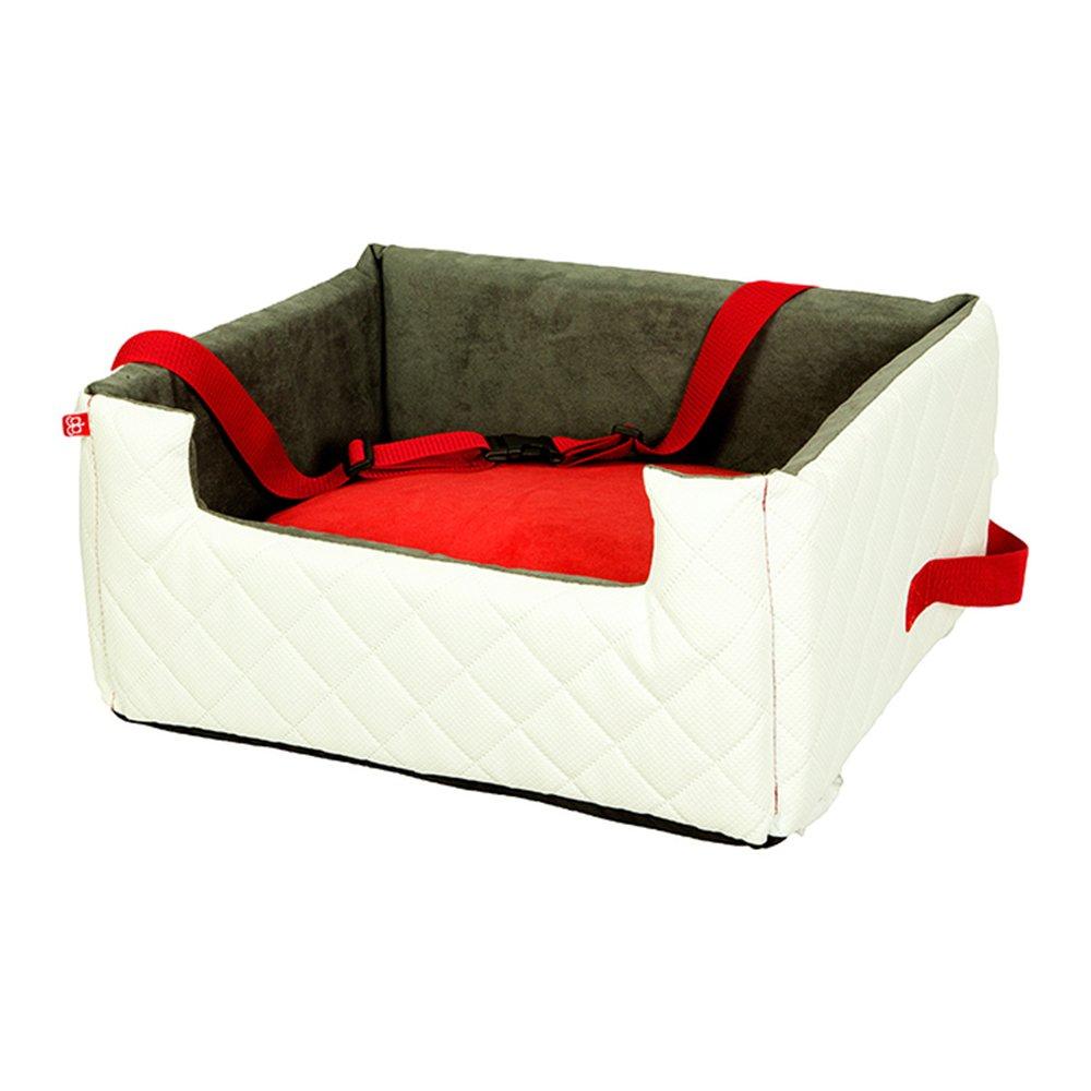 Amibelle Komfortabler Hundesitz | Lux Autositz für die Rückbank Oder Den Vordersitz | Leicht zu Reinigen und einzubauen | Luxus für Hunde | Ohne Chemie