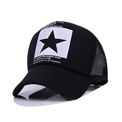 SUENHAT Fashion Pointed Star Brand Baseball Cap Outdoor Baseball Hat Breathable Men&Women Summer Mesh Cap Baseball
