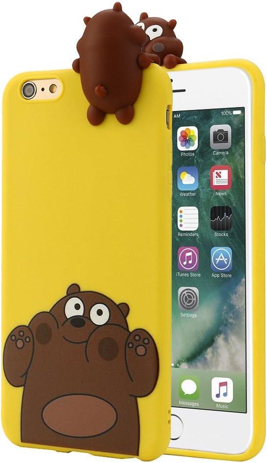 Memela(TM)3D Cartoon Animals Squishy iPhone 7/7Plus Case, Slim Shock-absorbing Modern Slim Non-slip Soft Silicone Cell Phone Cases for Apple iPhone 7/7Plus 4.7/5.5Inch (Style 6)