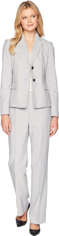 Le Suit Womens End On End Two-Button Notch Lapel Pants Suit