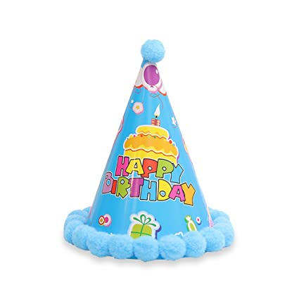 Amazon 6Pcs Cute Birthday Party Hats Cap With String Elastic