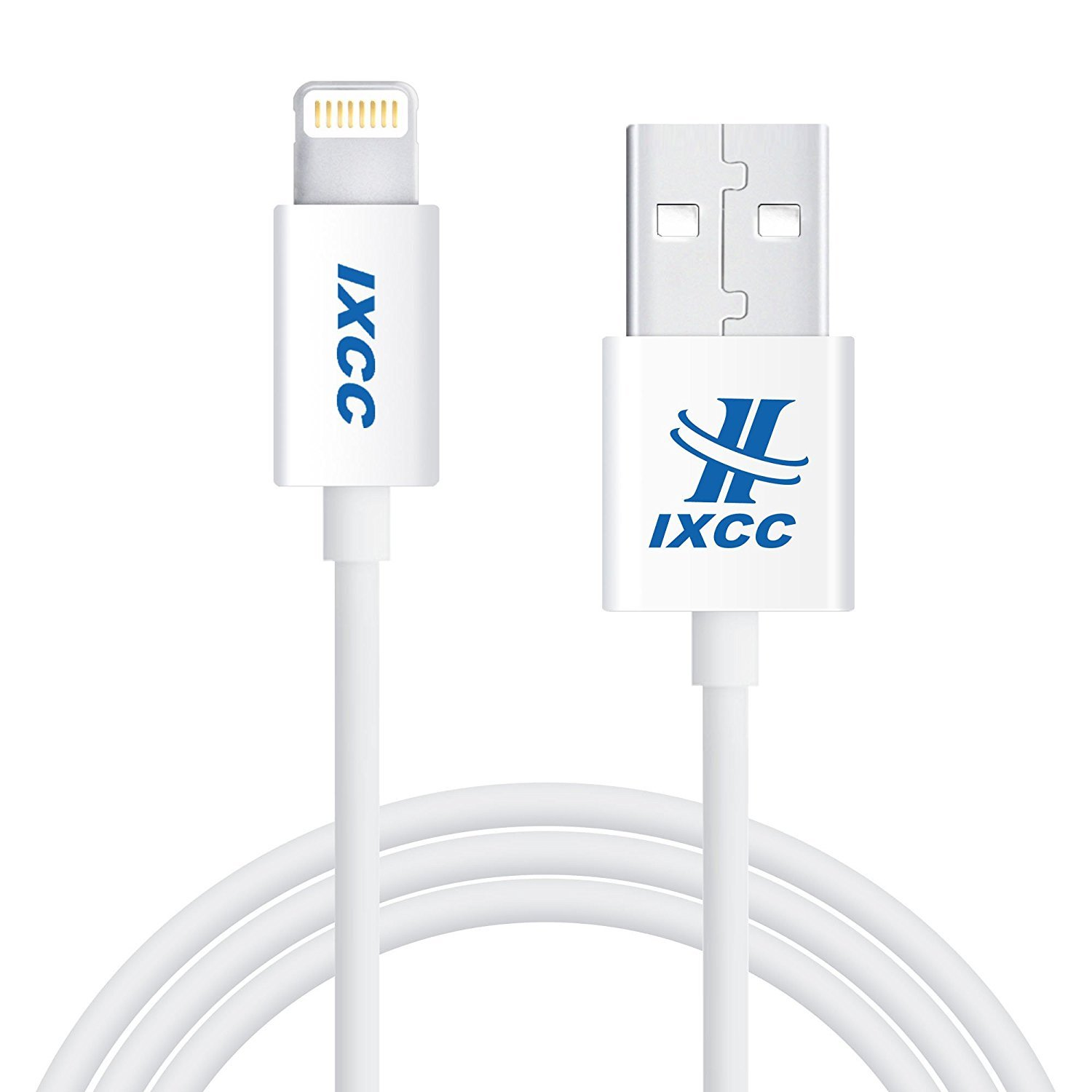 iXCC Element II Lightning Cable 3ft, iPhone charger, for iPhone X, 8, 8 Plus, 7, 7 Plus, 6s, 6s Plus, 6, 6 Plus, SE 5s 5c 5, iPad Air 2 Pro, iPad mini 2 3 4, iPad 4th Gen [Apple MFi Certified](White)