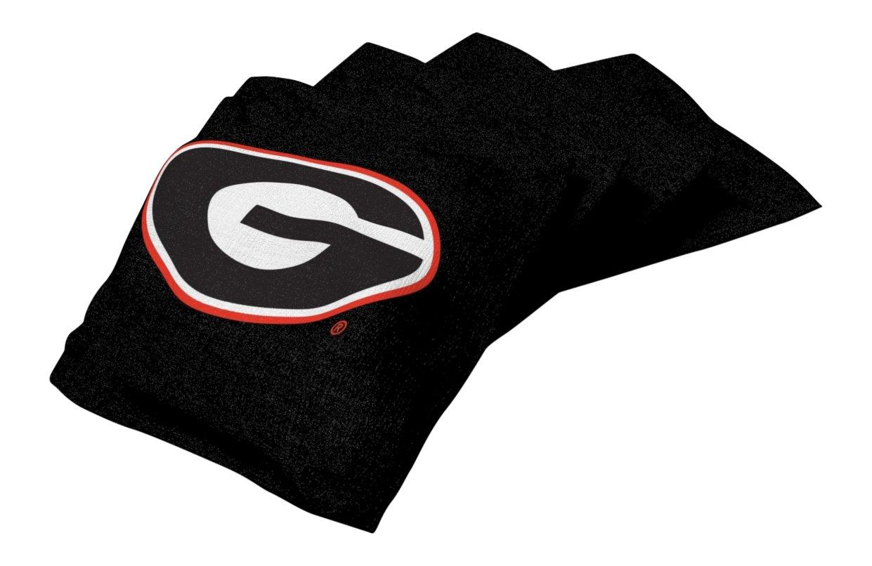 Wild Sports NCAA College Gonzaga Bulldogs Black Authentic Cornhole Bean Bag Set (4 Pack)