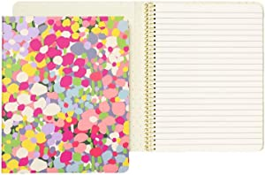 Kate Spade New York Small Concealed Spiral Notebook College Ruled, Hardcover Journal with 112 Lined Pages, Floral Dot