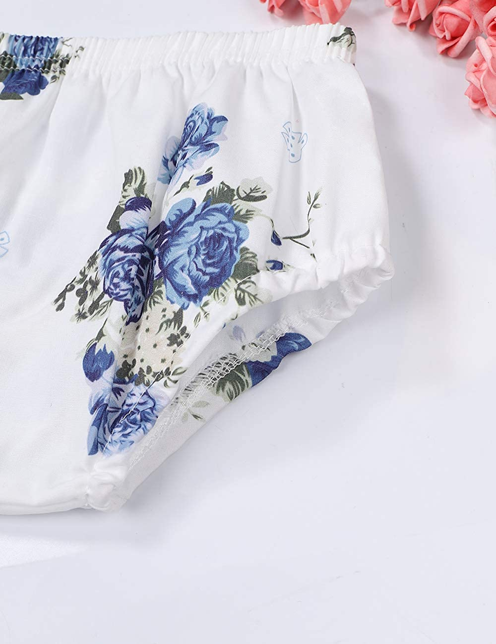 Toddler Baby Girl Summer Clothes Halter Ruffle Sling Top+Short Pants 2Pcs Floral Outfit Set