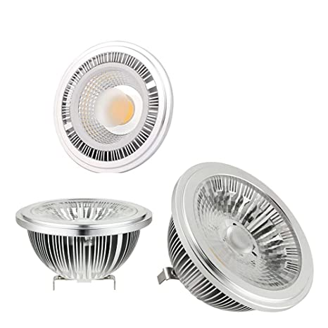 Ar111 Bombilla 12W E27 GU10 G53 LED Lampara AC90-265V Blanco Frío 6000K 24 Grados