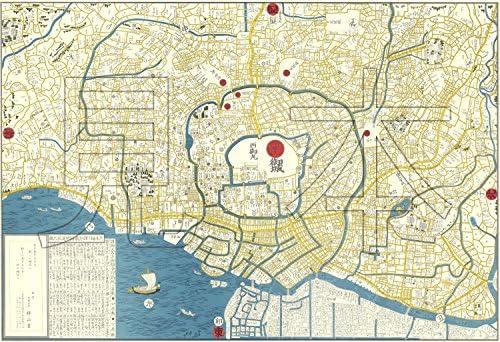和-edo】天保年間の江戸古地図を、すべて手描きで複製した、江戸古地図 ...