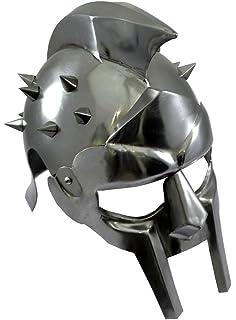 Latón diseño de fecha con disfraz de gladiador par hombre Armor casco Medieval de máximo décimo