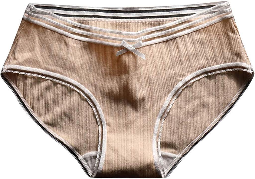 Yumso - Ropa interior de algodón para mujer, talla baja, braguitas ...