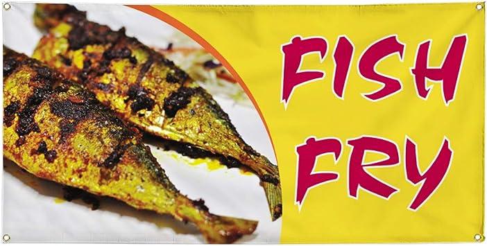 Advertising Flag Front Banner Business Sign Retail Store Fresh Fish Banner Vinyl Weatherproof 24x60 lb
