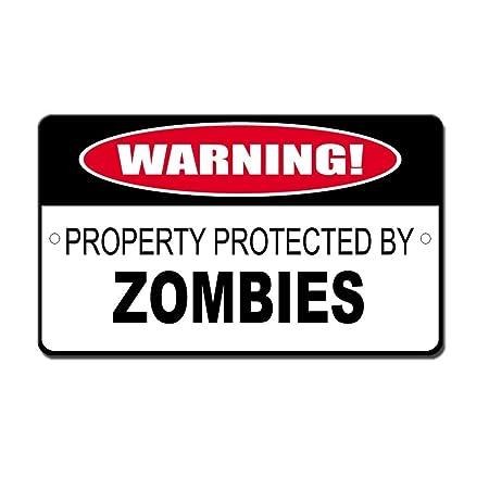 OneMtoss - Cartel de aluminio protegido por Zombies de 20 x ...